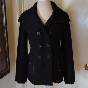 Juicy Couture Black wool coat petite